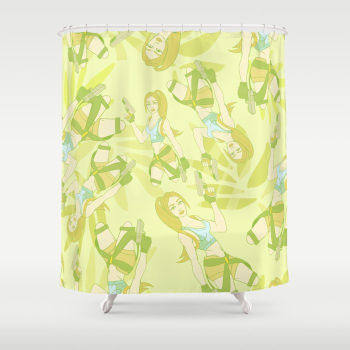 Tomb Raider The Temple Of Osirus Shower Curtain