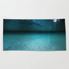 Night Swimming Beach Towel