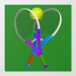 Tennis Rackets and Ball Canvas Print