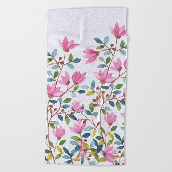 flowers 477 a Beach Towel