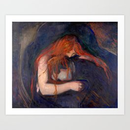 Vampire by Edvard Munch (1895) Art Print