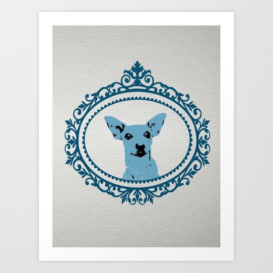 Aristocratic Mini Pinscher Art Print