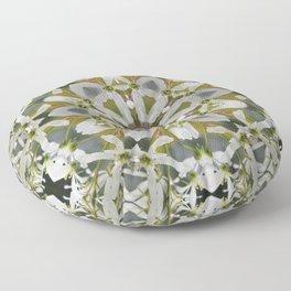 Lacy Serviceberry kaleidoscope - Amelanchier 0033 k5 Floor Pillow