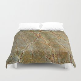 Forest Green Marble Duvet Cover