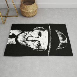 William S Burroughs Drawing by Woody Compton Rug