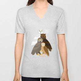Owls Unisex V-Neck