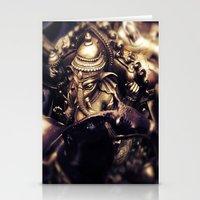 hindu Stationery Cards featuring Ganesha - Hindu Diety by Dre' Vanhorn
