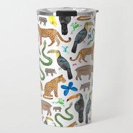 Jungle/Exotic Animals Travel Mug