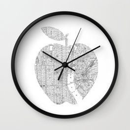 New York City big apple Poster black and white I Heart I Love NYC home decor bedroom wall art Wall Clock