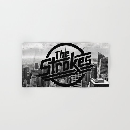 The Strokes Logo New York Black And White Hand & Bath Towel