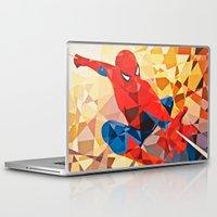 superhero Laptop & iPad Skins featuring Geometric Superhero by Eric Dufresne