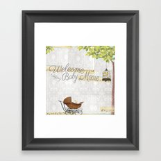 Welcome baby Framed Art Print