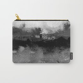 grayscale abstract painting Carry-All Pouch