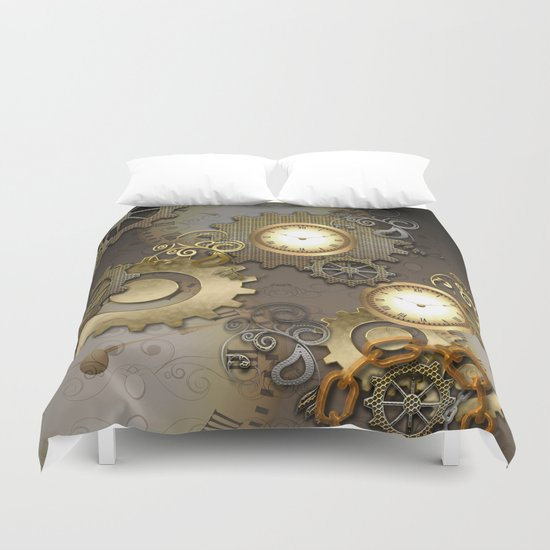 Abstract mechanical design Duvet Cover