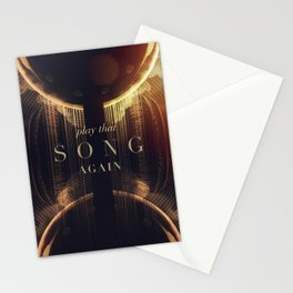 Play That Song Again Stationery Cards