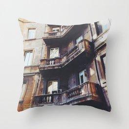 Roman Balconies Throw Pillow