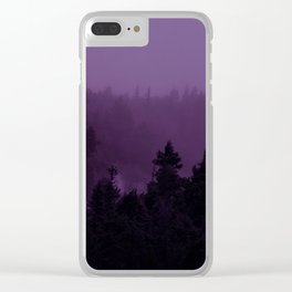 Purple Fog Clear iPhone Case