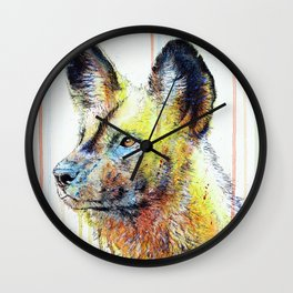 African Painted Dog Wall Clock