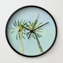 Stay wild - palms Wall Clock