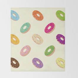 Donuts Pattern Throw Blanket
