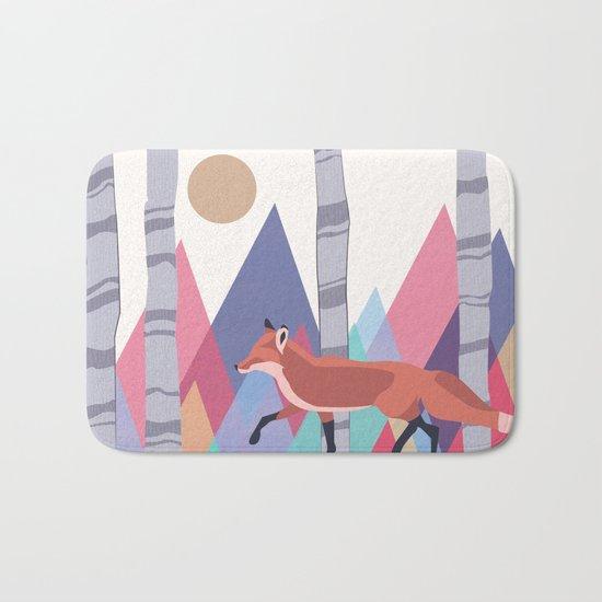 Fox stroll Bath Mat