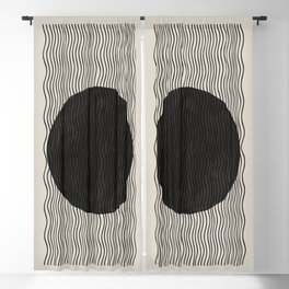 Woodblock Paper Art Blackout Curtain