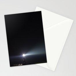 Vuurtoren in de nacht Stationery Cards