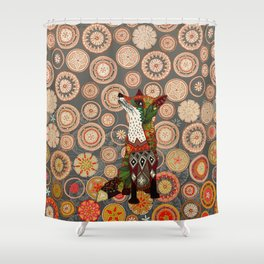 mandala fox Shower Curtain