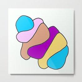 Colors jellyfish Metal Print