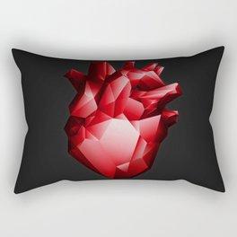 Ruby Red Heart Rectangular Pillow