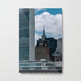 Midtown skyscrapers view from Roosevelt Island Metal Print