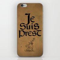 outlander iPhone & iPod Skins featuring Je Suis Prest by Skart87