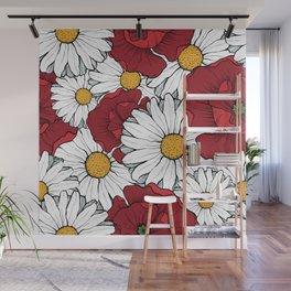 Beautiful flowers seamless pattern Wall Mural