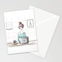 Busy Blogger Stationery Cards