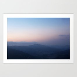 Blue Hills at Sunset Art Print