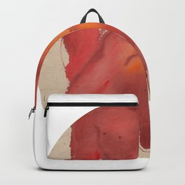 guangye male body red watercolor Backpack