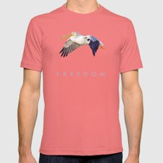 Blue Series #003 ~ Freedom LARGE Pomegranate Mens Fitted Tee
