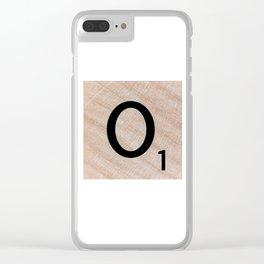 Scrabble Tile - Letter O - Letter Art Clear iPhone Case