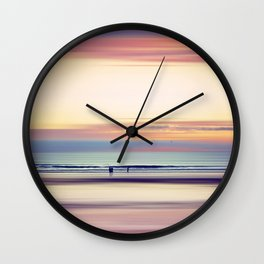 Pastel Horizons Wall Clock
