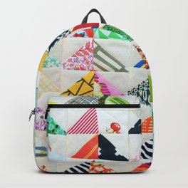 Flying Geese Quilt Pattern Backpack