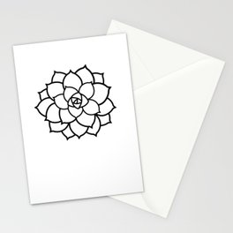 Simple Succulent Stationery Cards