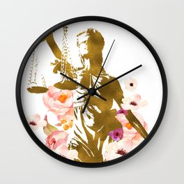 LADY OF JUSTICE Wall Clock
