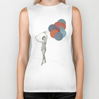 balloons Biker Tanks featuring Balloons by Cassia Beck