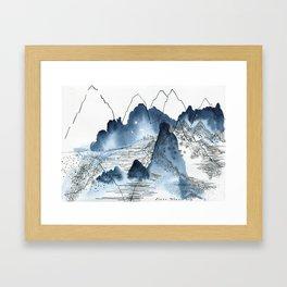 Love of mountains landscape format Framed Art Print