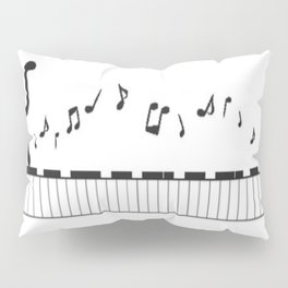 Piano Puss Pillow Sham