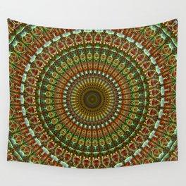 Earthy mandala, Wall Tapestry