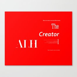The Creator Canvas Print