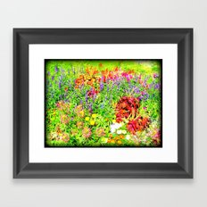 Pastel Flowers Framed Art Print
