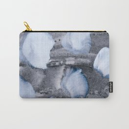 pastel blue dots on grey Carry-All Pouch