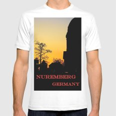 Jakobsplatz, Nuremberg White Mens Fitted Tee MEDIUM